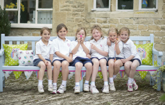 Learning in pre-prep, Hatherop Castle, Gloucestershire