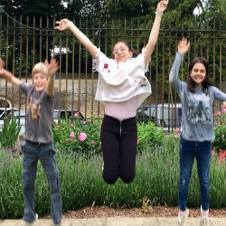 Jumping for joy- the Hatherop effect!