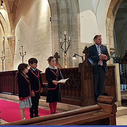 Pre-Prep take some time out to think of others at the Harvest Festival Service